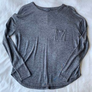 Vince Gray Oversized Long Sleeve Tee with Pocket XS
